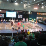 Setting up for a elimination match